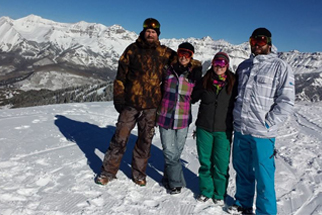Enjoying the view at the top of Telluride